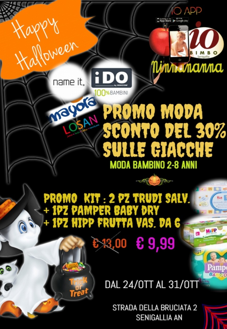 c245731994 Promo Halloween: da Io Bimbo Ninna Nanna Senigallia dal 24 al 31 scatta un' offerta da pauuuraaa!