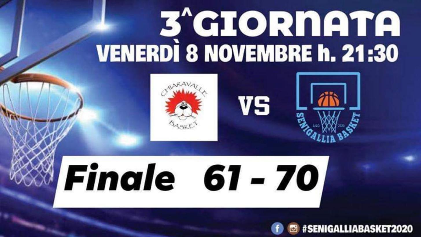 Basket: Senigallia Basket 2020 sbanca Chiaravalle e rimane sola a punteggio pieno in testa alla classifica del girone - Vivere Senigallia